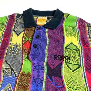 Vintage 90's COOGI Knit Polo T-Shirt  🔥🔥🔥🔥